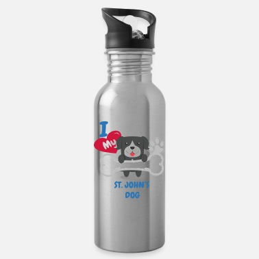 St Johns ST JOHNS DOG - I Love My ST JOHNS DOG Gift - Water Bottle