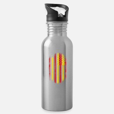 Catalan Designs Catalonian American Flag Catalan and USA Design - Water Bottle