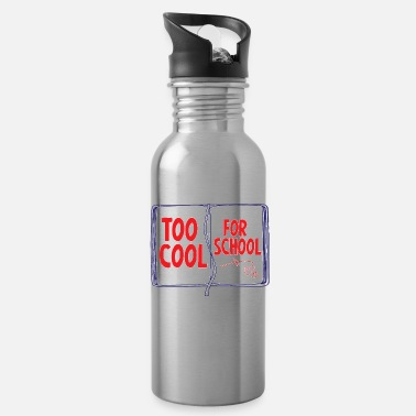 First Day Of School T-shirt too cool for the school - Water Bottle