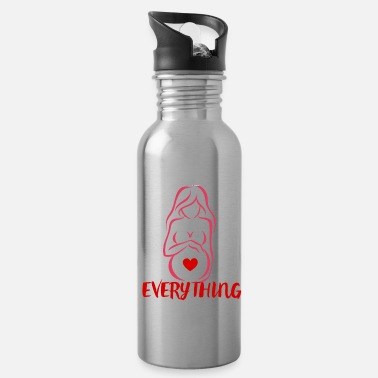 Pregnant Pregnant Baby Pregnancy Mummy Birth Gift Idea - Water Bottle