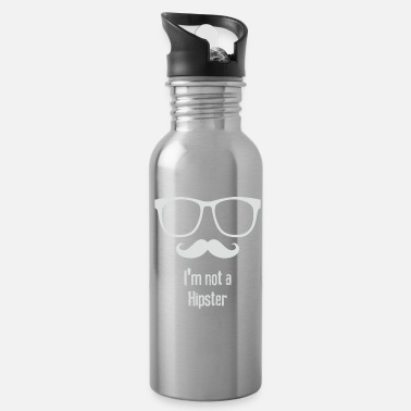 Hipster Not A Hipster - Water Bottle