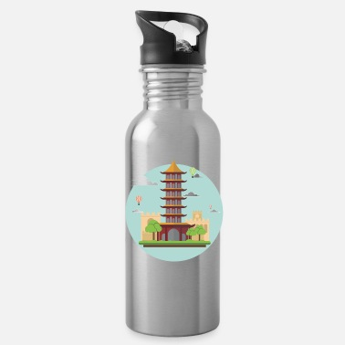 Asian asian tower - Water Bottle