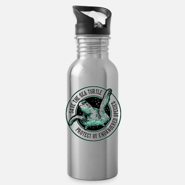 Sea Save the Sea Turtle Shirt Endangered Species tee - Water Bottle
