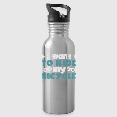 I want to ride my bicycle quote christmas - Water Bottle