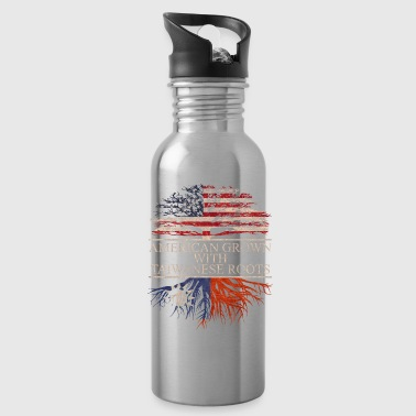 american grown with taiwanese roots vintage - Water Bottle