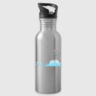 Unicorn above the clouds fantasy gift kids - Water Bottle