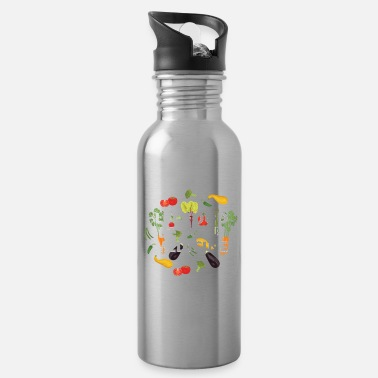 Food Let Food Be Your Medicine Veganism Vegan Lifestyle - Water Bottle