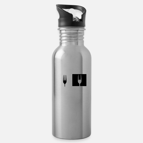 Metal Mugs & Drinkware - Funny metal - Water Bottle silver