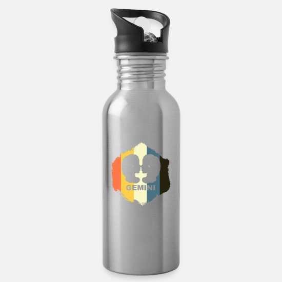 Birthday Mugs & Drinkware - Gemini - Water Bottle silver