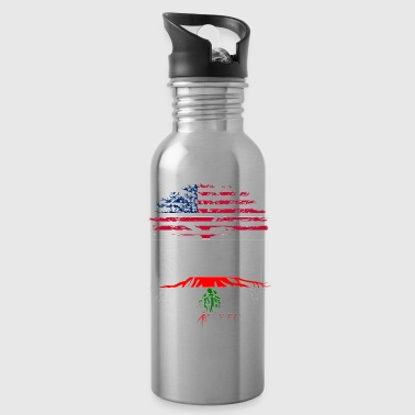 Lebanon American grown with lebanese roots original - Water Bottle