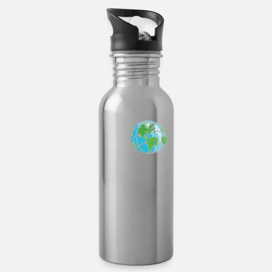 Planet Mugs & Drinkware - Save the Planet No Planet B - Water Bottle silver