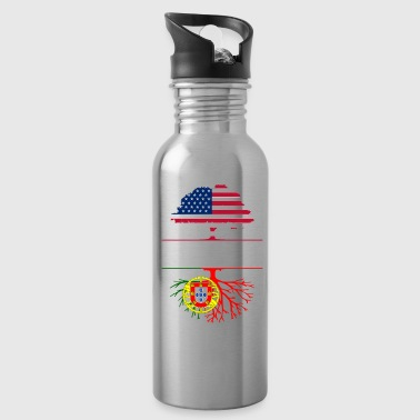 Pride American Grown with Portuguese Roots Portugal Design - Water Bottle