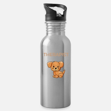 Wet My Therapist Has A Wet Nose Funny Dog Pun - Water Bottle
