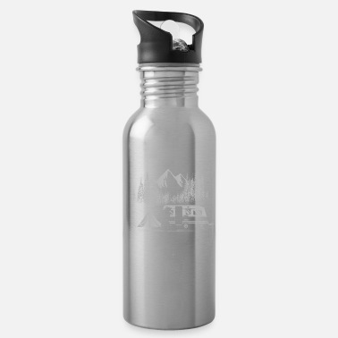 Bloody Go outside worst case scenario bear gift - Water Bottle