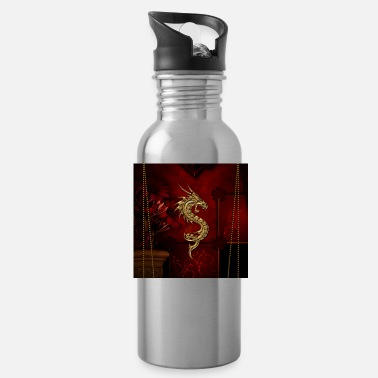 Red Wonderful red chinese dragon - Water Bottle