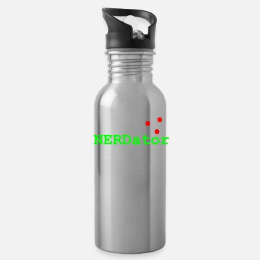 Gamer Nerd Scifi Nerdator Alien Ufo Gift-Idea - Water Bottle