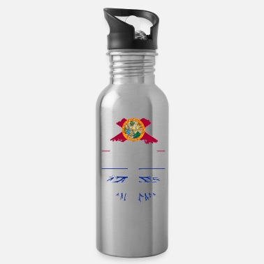 Democrat Florida Grown with Quebecois Roots Design - Water Bottle
