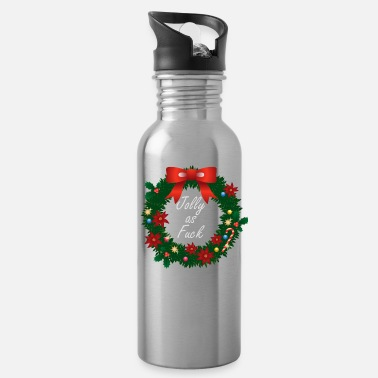 Fuck Offensive Inappropriate Christmas Jolly As Fuck Offensive - Water Bottle