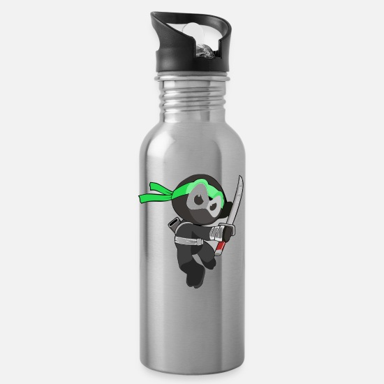 Warrior Mugs & Drinkware - Ninja Warrior T-Shirt - Sword Design Edition - Water Bottle silver