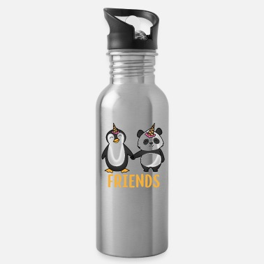 Penguin Friends for life penguin and panda gift - Water Bottle
