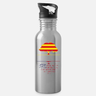 Catalan Designs Catalunya Grown With American Roots Design - Water Bottle
