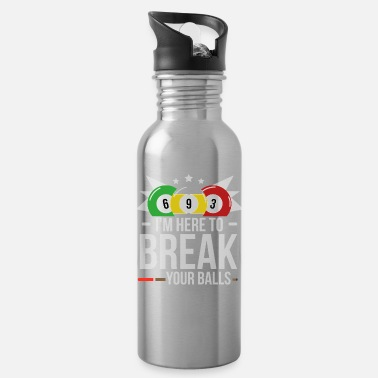 8ball billiard queue 8ball pub game snooker gift - Water Bottle