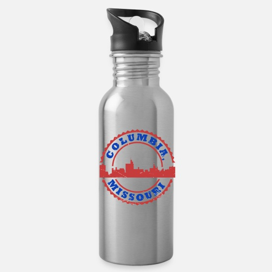Gift Idea Mugs & Drinkware - Columbia Missouri Boone County Hometown Gift - Water Bottle silver