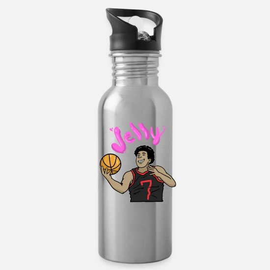 Basket Mugs & Drinkware - Cartoon Cartoon Basketball Sport Basketball Player - Water Bottle silver