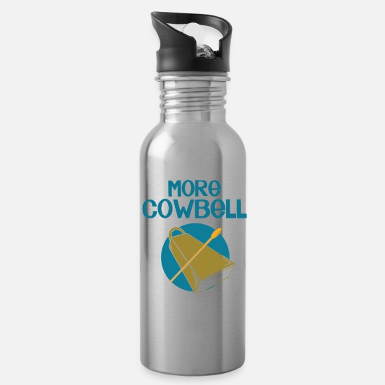 Deep Mugs & Drinkware - COWBELL - Water Bottle silver