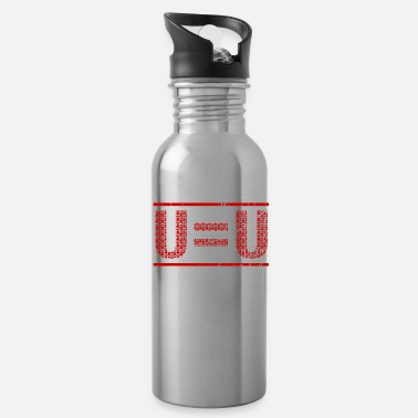 Ribbon U=U Undetectable Equals Untransmittable HIV - Water Bottle