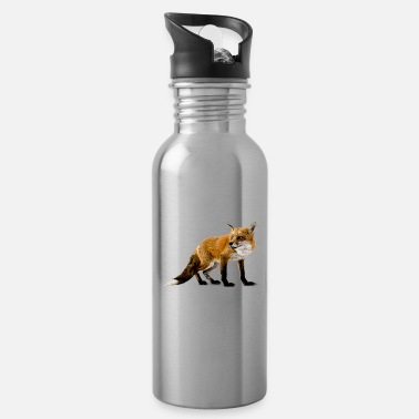 News Respect The Fox Funny Fox Lover Novelty Design - Water Bottle