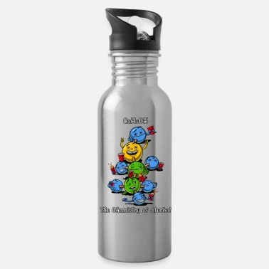 Ethanol Chemistry Alcohol Ethanol Molecule Funny Science - Water Bottle