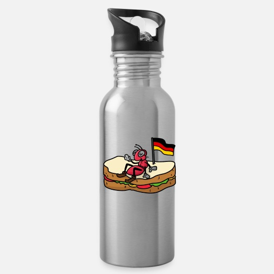Flag Of Germany Mugs & Drinkware - German Ant and Sandwich - Water Bottle silver