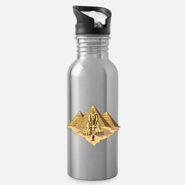 Ancient Civilization Egyptian Pyramids Ancient Sphinx Mythology - Water Bottle