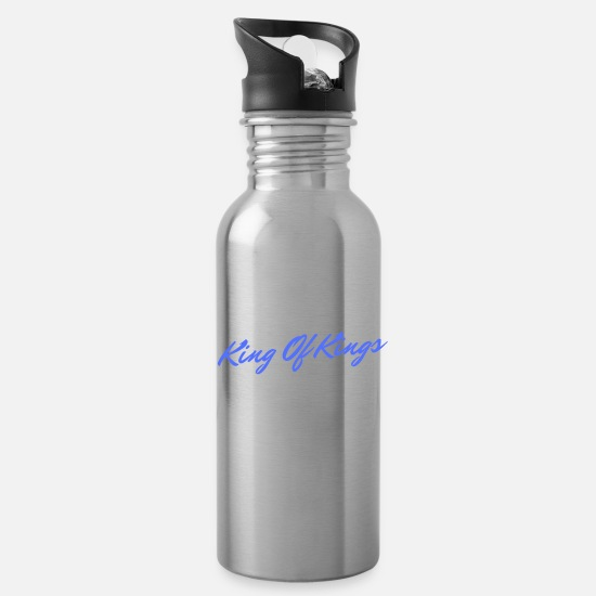 Boss Mugs & Drinkware - King Of Kings - Water Bottle silver