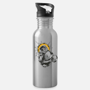 Weight Training Monkey dumbbell weight training - Water Bottle