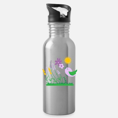 Woodstock Flower Power Peace Woodstock Hippie 70th Gift - Water Bottle