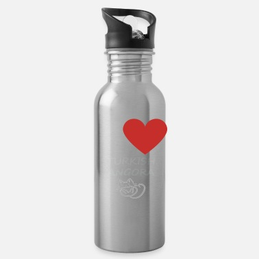 Turkish Love I Love My Turkish Angora Cat - Water Bottle