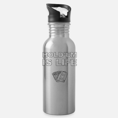 Texas Hold'em Poker Holdem Texas Hold'em playing card - Water Bottle