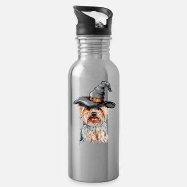 Cute Dog Happy Halloween Yorkshire T-Shirt Gifts - Water Bottle