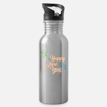 New Years Day Happy New years day - Water Bottle