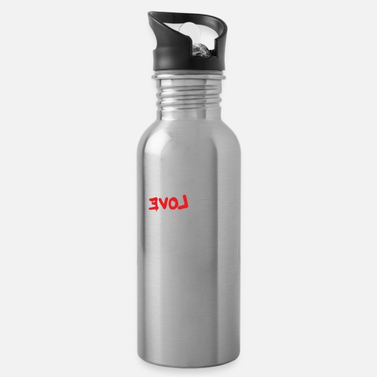 Birthday Mugs & Drinkware - Love revolution gift - Water Bottle silver