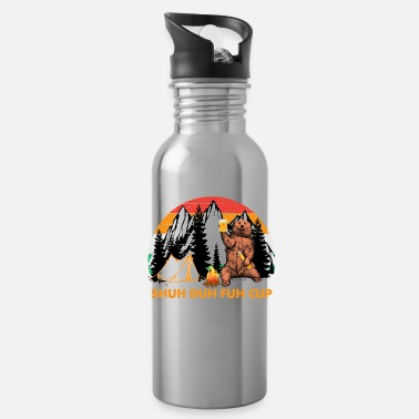 Shuh Duh Fuh Bear Shuh Duh Fuh Cup Bear Drinking Beer Camping Hiking - Water Bottle