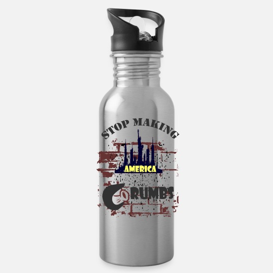 President Mugs & Drinkware - Election President 2020 - Water Bottle silver