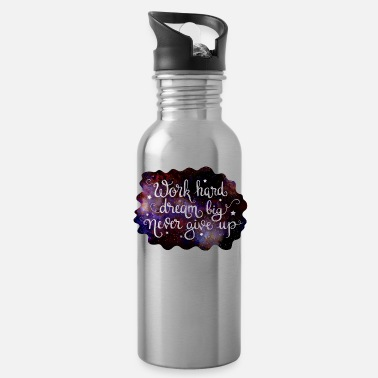 Starry Sky Starry Quotes Galaxy Motivational Quote Work Hard - Water Bottle