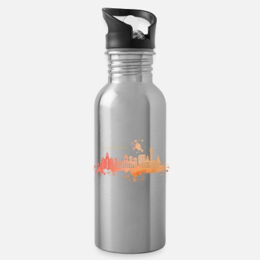 Liverpool watercolor skyline England Europe - Water Bottle