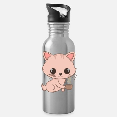 Cat Breed Cute Siam Cat And Coffee Gifts For Cat Lovers - Water Bottle
