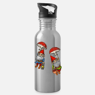Trippy Gnomes Magic Mushrooms Fantasy - Water Bottle