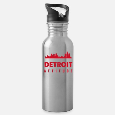 Attitude Excuse My Detroit Attitude Warning Michigan USA - Water Bottle