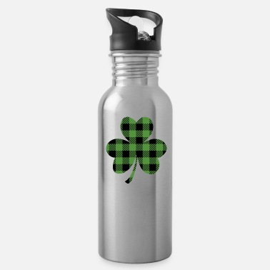 Buffalo St. Patrick's Day Buffalo Shamrock - Water Bottle